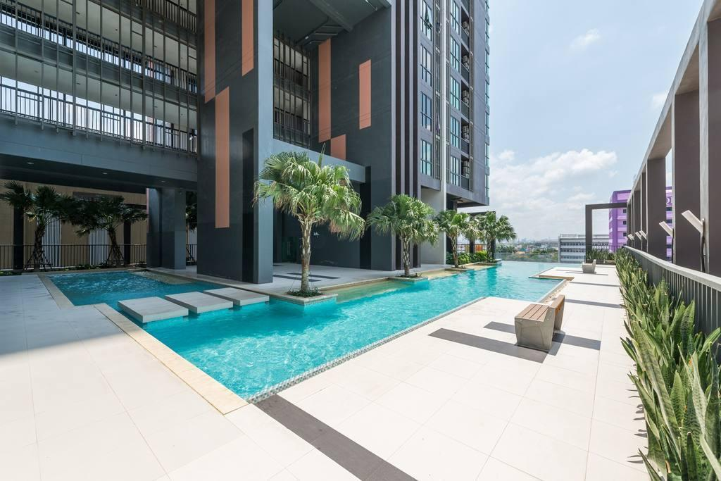 10 mins to IMPACT Arena with modern cozy living อพาร์ตเมนต์ 1 ห้องนอน 1 ห้องน้ำส่วนตัว ขนาด 30 ตร.ม. – สนามบินนานาชาติดอนเมือง