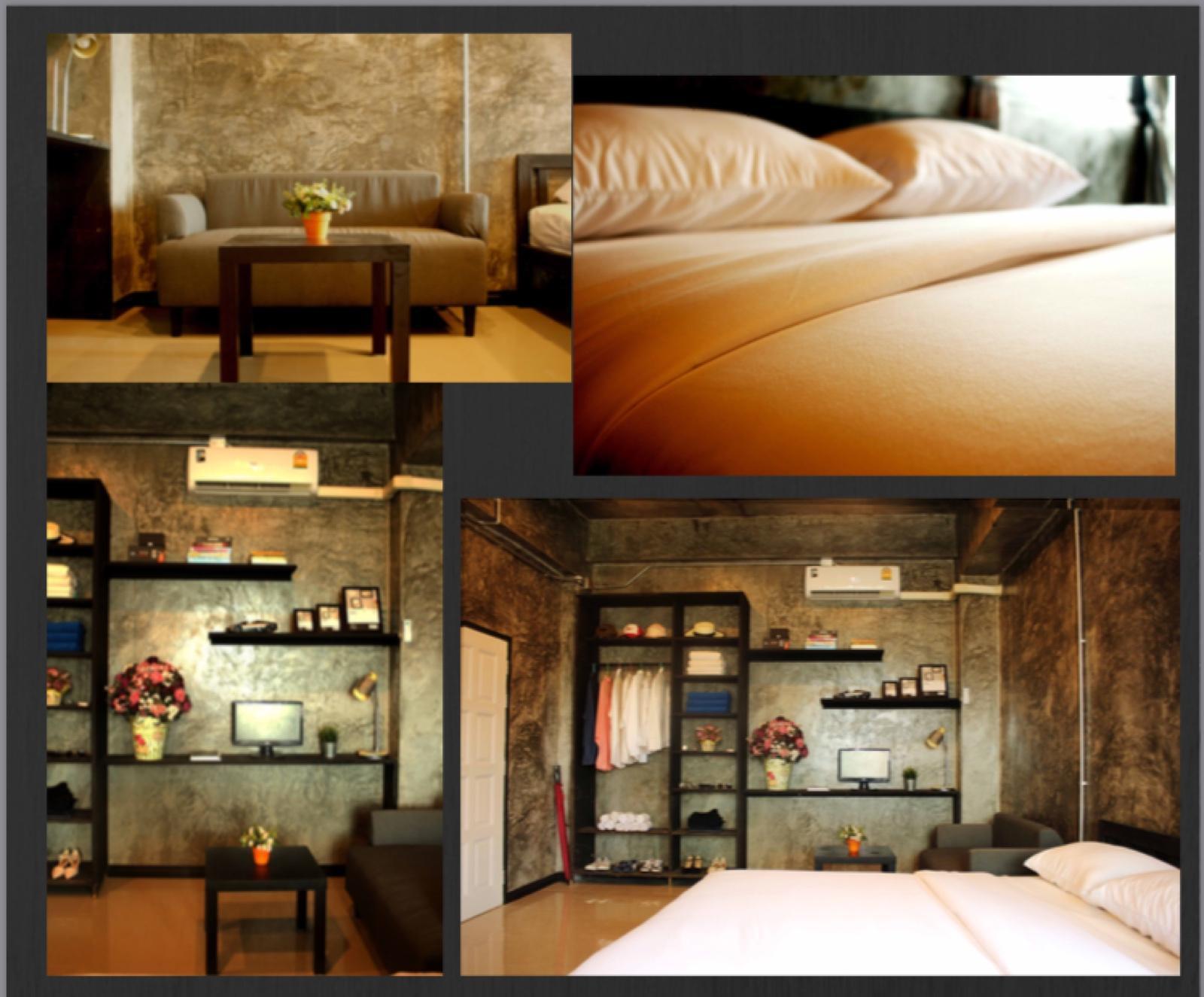The loft residence ห้อง 202 อพาร์ตเมนต์ 1 ห้องนอน 1 ห้องน้ำส่วนตัว ขนาด 30 ตร.ม. – ธนบุรี