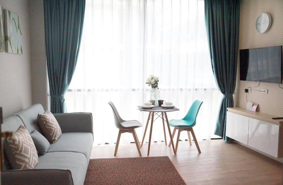 Pattaya Blue Room อพาร์ตเมนต์ 1 ห้องนอน 1 ห้องน้ำส่วนตัว ขนาด 38 ตร.ม. – พัทยากลาง