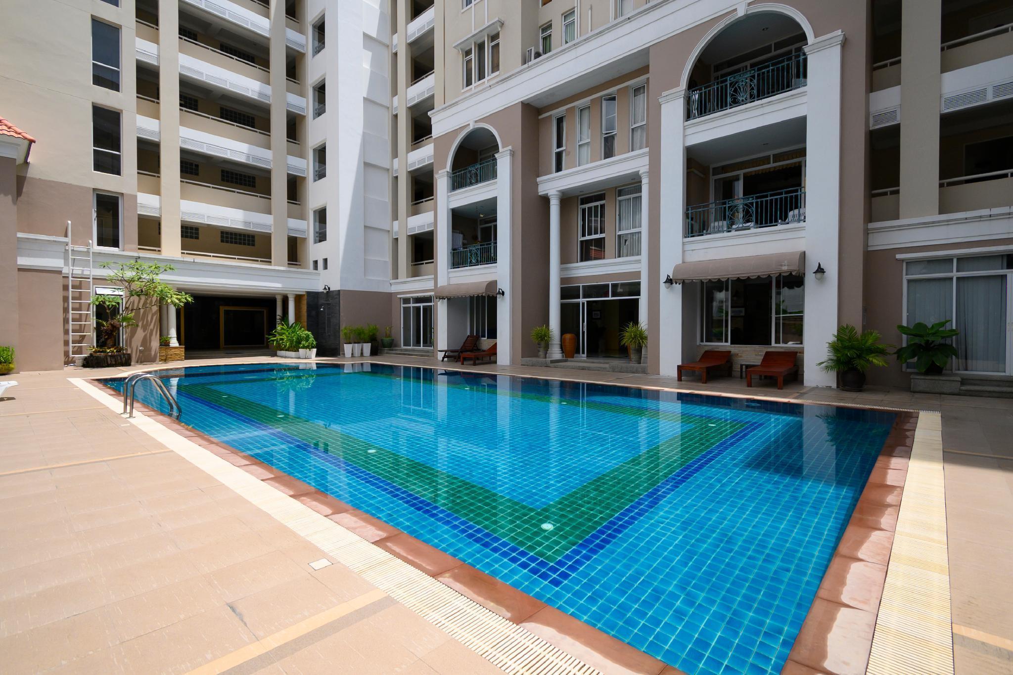 2BR @ Patong w/high speed wifi, pool & big balcony อพาร์ตเมนต์ 2 ห้องนอน 2 ห้องน้ำส่วนตัว ขนาด 86 ตร.ม. – ป่าตอง