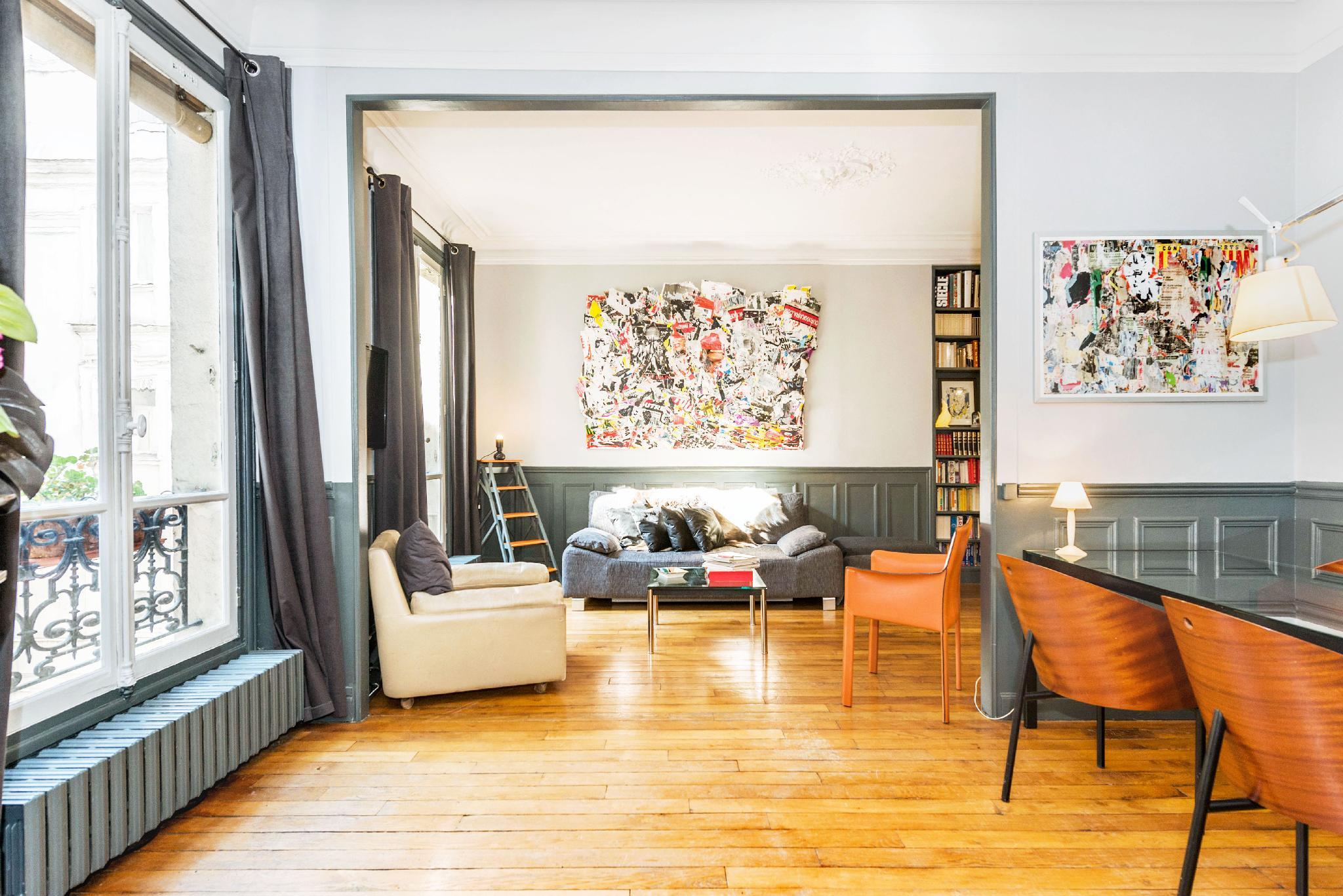Beautiful apt, Montmartre/Opera, Hip and Central.