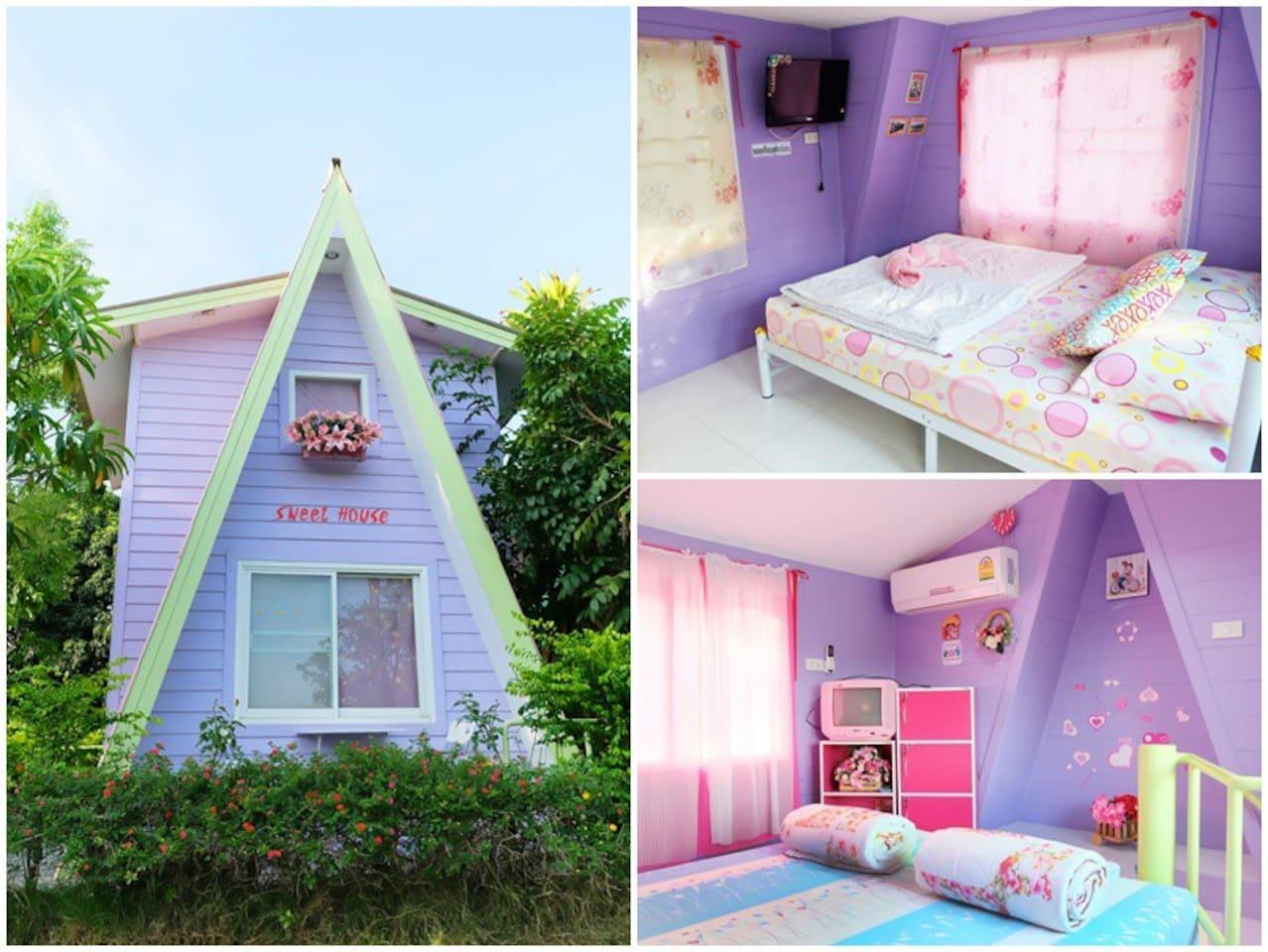 2 Floors Pastel House With Free Breakfast For 4