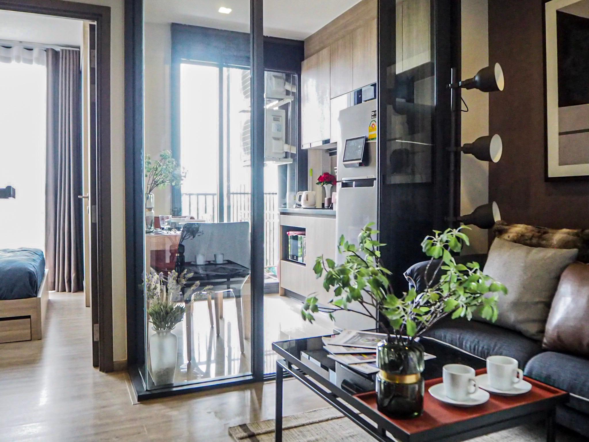 a minute walk to sky train - full furnish/wifi อพาร์ตเมนต์ 1 ห้องนอน 1 ห้องน้ำส่วนตัว ขนาด 28 ตร.ม. – จตุจักร