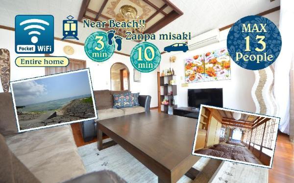 Okinawa Resort Villa in Yomitan 3min walk to Beach Okinawa Main island