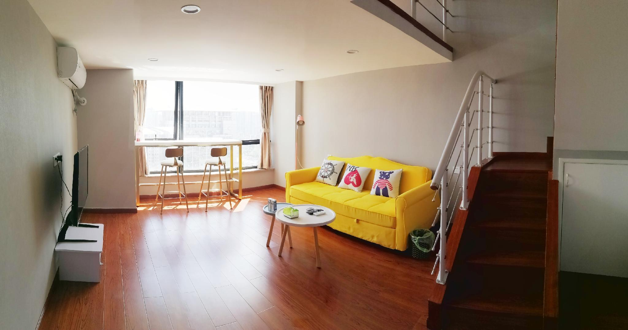 Line2Renmin Square Loft Apartment