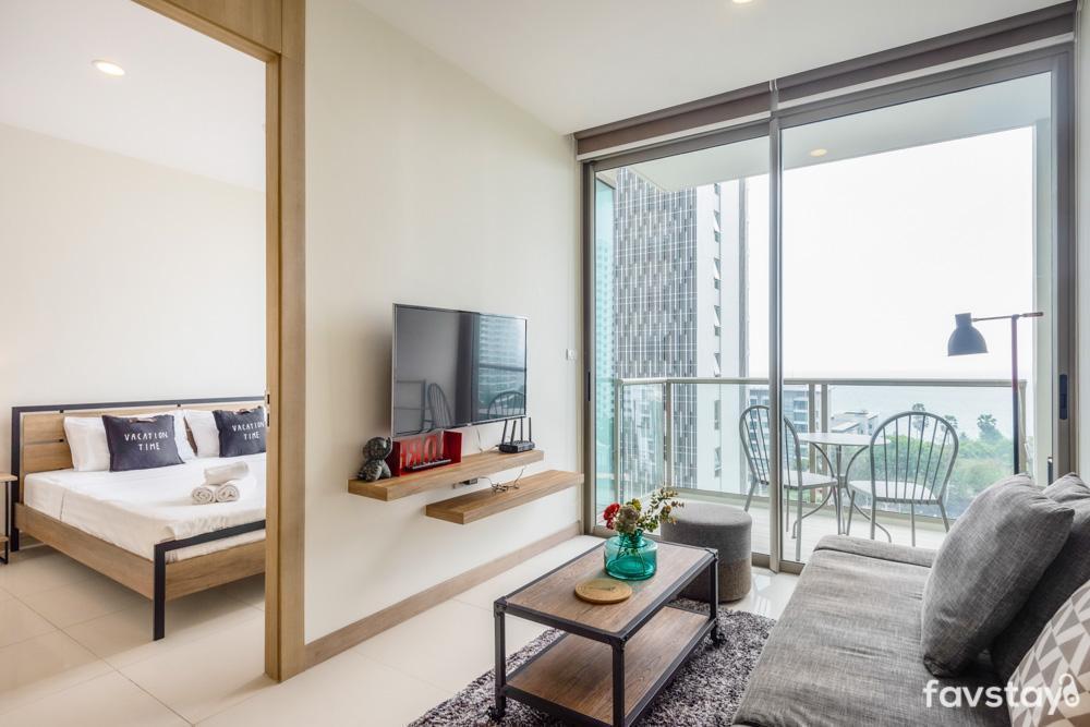 Gorgeous Room with Sea View @Riviera Wongamat อพาร์ตเมนต์ 1 ห้องนอน 1 ห้องน้ำส่วนตัว ขนาด 37 ตร.ม. – หาดวงอมาตย์